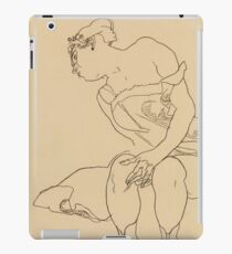 Egon Schiele - Seated Woman In Corset And Boots iPad Case/Skin