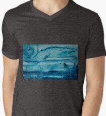 Sharks in deep Mens V-Neck T-Shirt