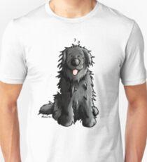 Black Newfoundland Dog Cartoon Unisex T-Shirt
