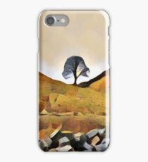 Sycamore Gap Illustration iPhone Case/Skin