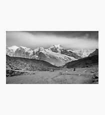 Kanchenjunga and Hikers Photographic Print