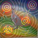 Kangaroo in the bush by Derek Trayner