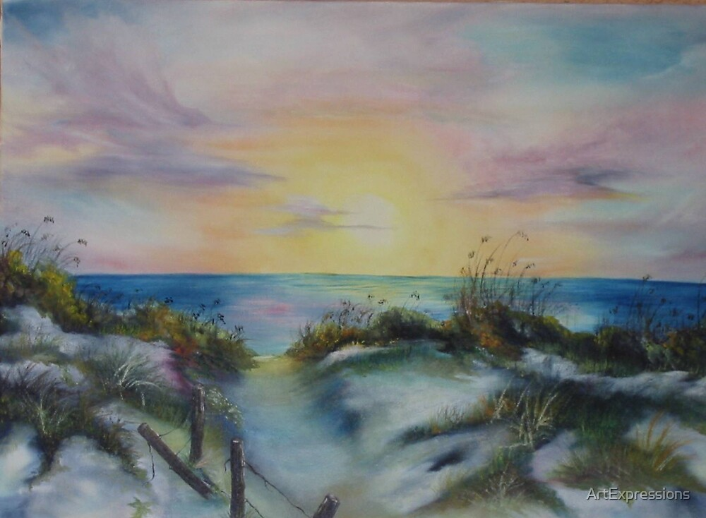 Californian Beach by ArtExpressions
