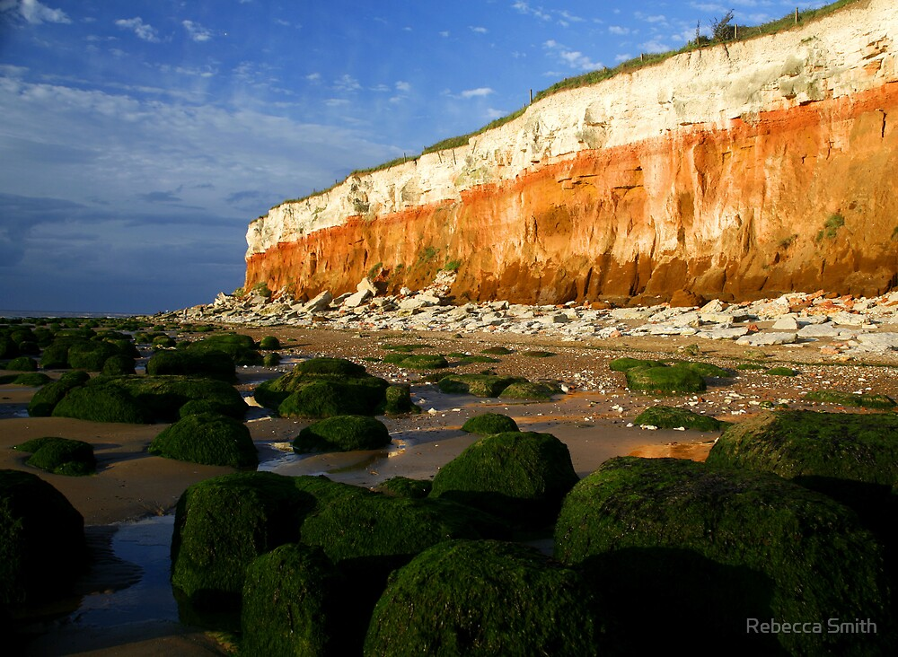 Beach Cliffs at Old Hunstanton, Norfolk by Rebecca Smith