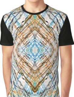 Abstract Blue Brown Fractal Kaleidoscope Graphic T-Shirt