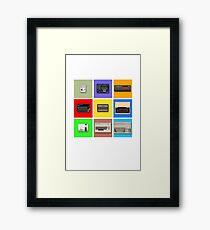 Pixel Retro Gaming Machines Squares Framed Print