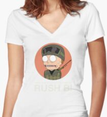 Rick and Morty in CSGO! Women's Fitted V-Neck T-Shirt