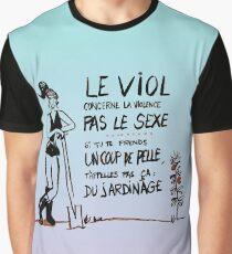 Le viol et le jardinage. Bleu Graphic T-Shirt