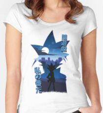 Yami Yugi Silhouette Women's Fitted Scoop T-Shirt