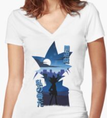Yami Yugi Silhouette Women's Fitted V-Neck T-Shirt