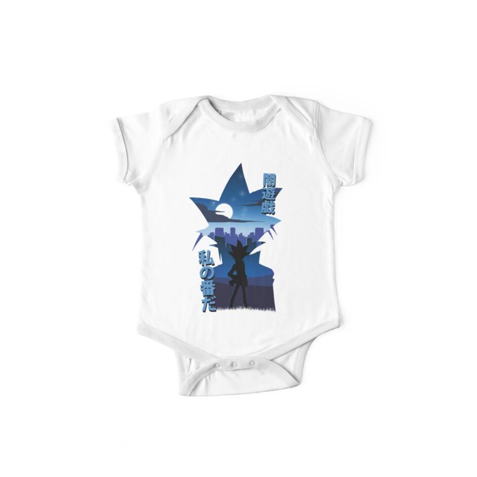 Yami Yugi Silhouette Baby Body Kurzarm Von Toastmonsters Redbubble