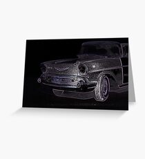 MIDNIGHT SQUAD CAR Greeting Card