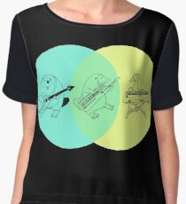 Keytar Platypus Venn Diagram Women's Chiffon Top