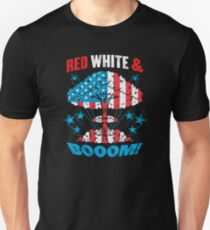 Red White And Bom Unisex T-Shirt