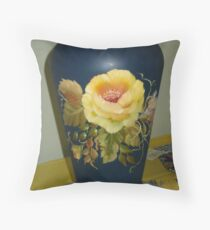 Rose Vase Throw Pillow
