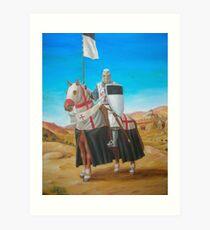 Templar Standard Bearer Art Print