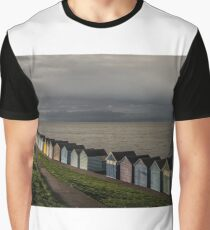 Herne Bay Beach Huts Graphic T-Shirt