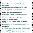 Narcotics Anonymous 12 Step Poster (See Artists Note for Traditions Link) by Delights
