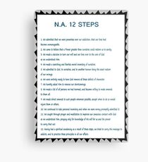 Narcotics Anonymous 12 Step Poster (See Artists Note for Traditions Link) Metal Print