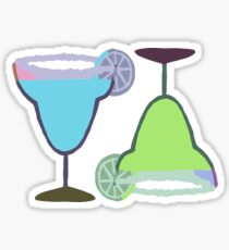 MARGARITAS | blue & green Sticker