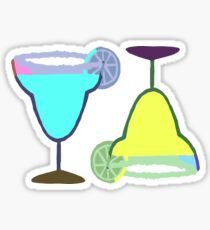 MARGARITAS | blue & yellow Sticker