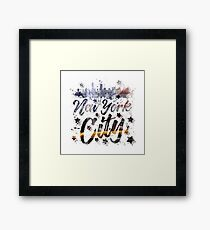 City-Art NYC Composing   Typography Framed Print
