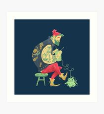 dude knits Art Print