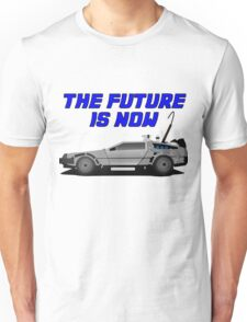 back to the future delorean car movie film retro vintage Unisex T-Shirt