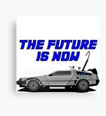 back to the future delorean car movie film retro vintage Canvas Print