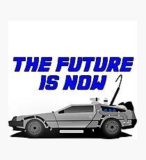 back to the future delorean car movie film retro vintage Photographic Print
