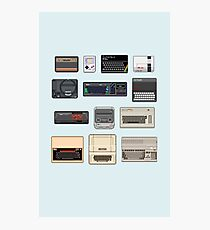 Pixel Retro Gaming Machines Photographic Print