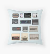 Pixel Retro Gaming Machines Throw Pillow