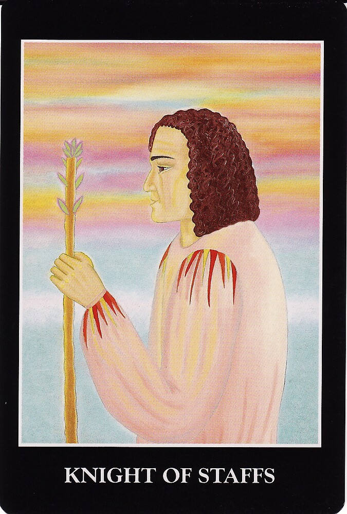 Knight of Staffs by Lisa Tenzin-Dolma