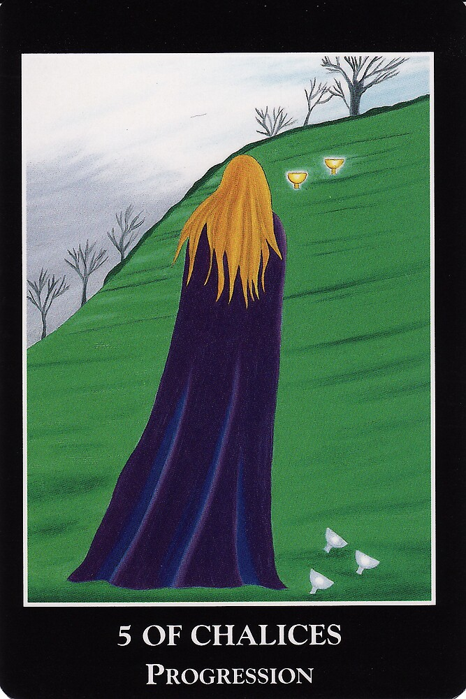 5 of Chalices - Progression by Lisa Tenzin-Dolma