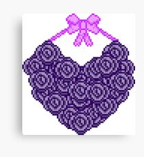 Purple Rose Heart Canvas Print