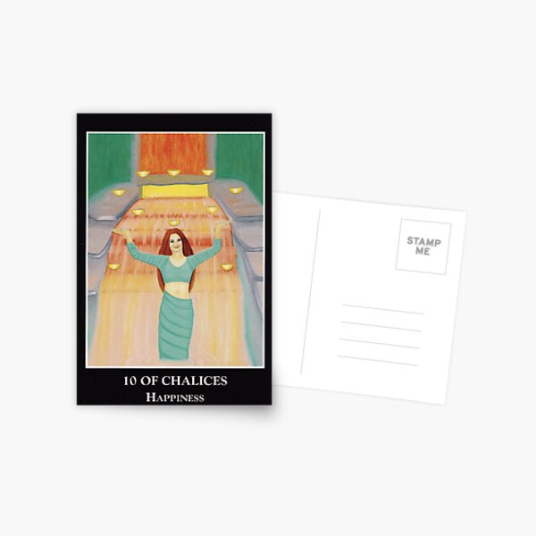 10 of Chalices - Happiness Postcard