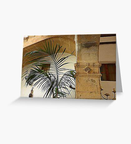 Pillars And Palms Greeting Card