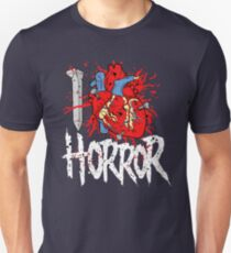 I LOVE HORROR  Unisex T-Shirt