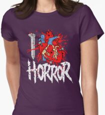 I LOVE HORROR  Womens Fitted T-Shirt
