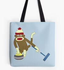Sock Monkey Curling Tote Bag