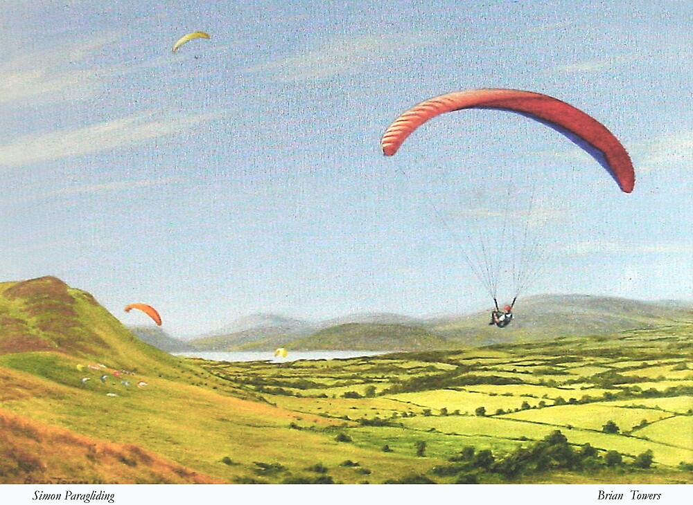 Simon paragliding by Brian Towers