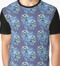 Cthulhu the Cthinker in Bilious Blue Graphic T-Shirt