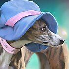 Easter Hat Whippet Portrait by Dora Wilson