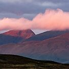 First light hits the Tarmachan Ridge, Perthshire Scotland by Cliff Williams