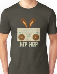 Hip Hop Rabbit Ears Boombox Unisex T-Shirt