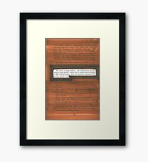 James and the Giant Peach Quote Framed Print