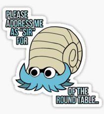 Omanyte Pun - Pokemon Design Sticker