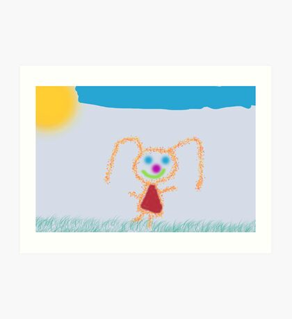 Happy Girl Art Print
