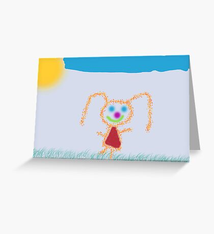 Happy Girl Greeting Card