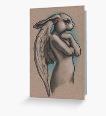 Bunny Angel Statue Greeting Card